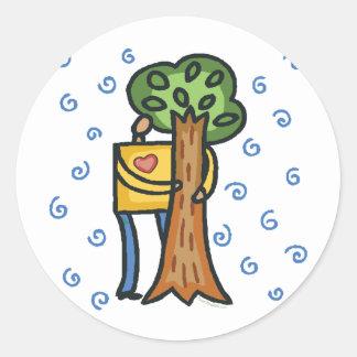 Sticker Rond Arbre coloré Hugger