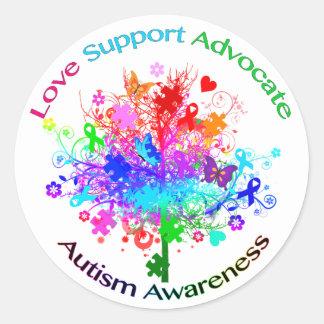 Sticker Rond Arbre d'autisme dans le spectre