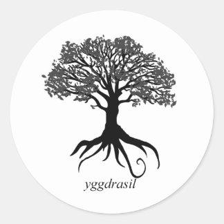 Sticker Rond Arbre de Yggdrasil de la vie