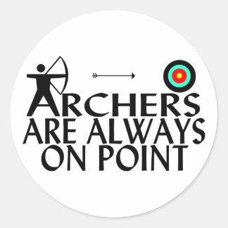 Sticker Rond Archers sur le point