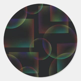 Sticker Rond Arrière - plan abstrait noir