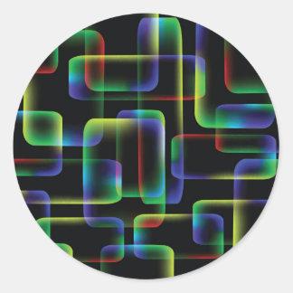Sticker Rond Arrière - plan vibrant