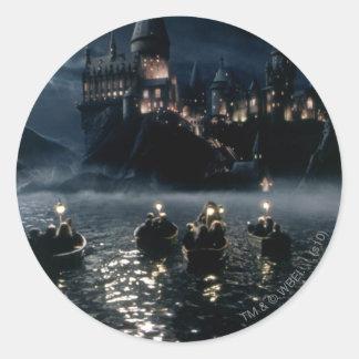 Sticker Rond Arrivée du château | de Harry Potter chez Hogwarts