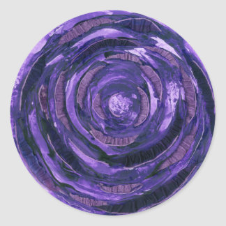 Sticker Rond art curatif #2 de 7th-Crown Chakra