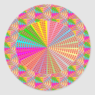 Sticker Rond Art curatif d'étincelle de cercle de Chakra par