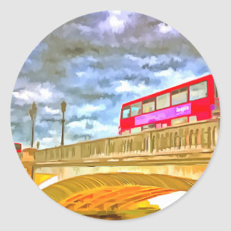 Sticker Rond Art de bruit de pont de Battersea