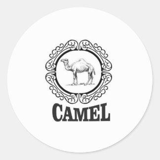 Sticker Rond art de logo de chameau
