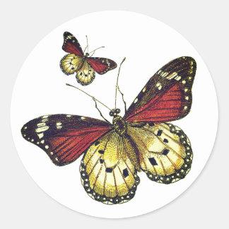 Sticker Rond Art de papillons