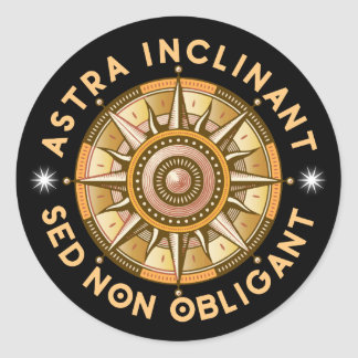 Sticker Rond Astra inclinant, sed non obligant