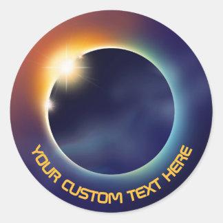 Sticker Rond Astronomie d'espace de l'éclipse solaire  