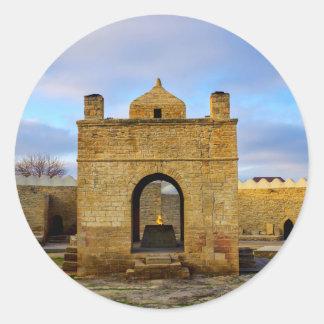 Sticker Rond Ateshgah de Bakou