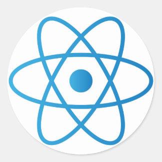 Sticker Rond Atome d'isolement par résumé