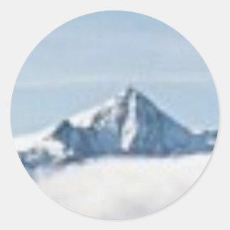 Sticker Rond au-dessus des nuages