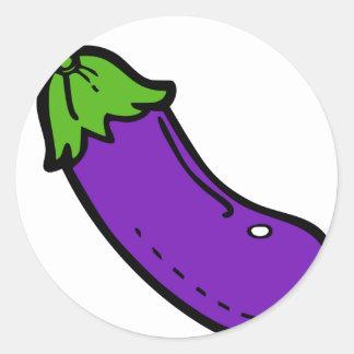 Sticker Rond Aubergine