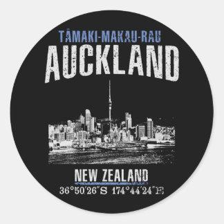 Sticker Rond Auckland