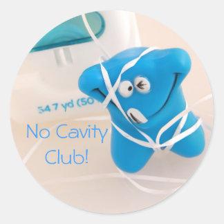 Sticker Rond Aucun club de cavité !