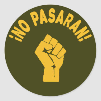 Sticker Rond Aucun Pasaran - ils ne passeront pas