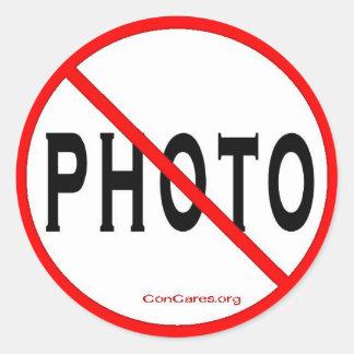 Sticker Rond Aucune Autocollant-Feuille de pouce Photo-3 de 6