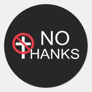 Sticker Rond Aucune grâce à la religion