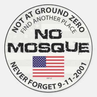 Sticker Rond Aucune mosquée à point zéro