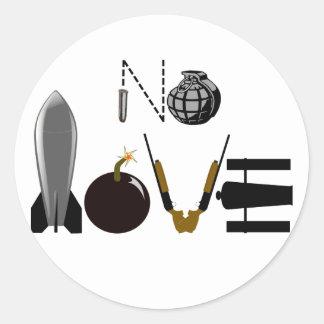 Sticker Rond Aucunes armes d'amour