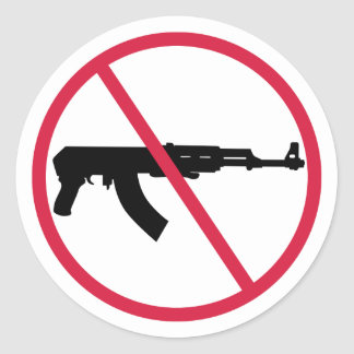 Sticker Rond Aucunes armes d'assaut
