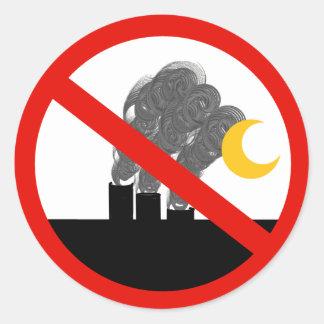Sticker Rond Aucunes cheminées d'évacuation des fumées de