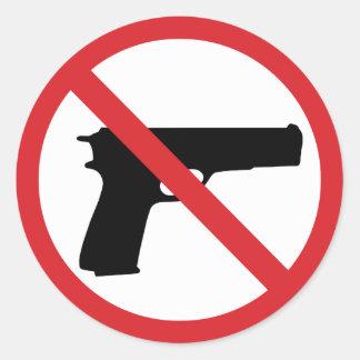 Sticker Rond Aucuns pistolets