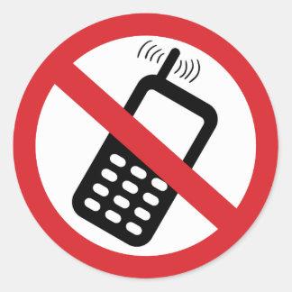 Sticker Rond Aucuns téléphones portables