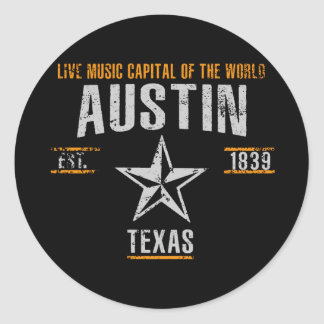 Sticker Rond Austin