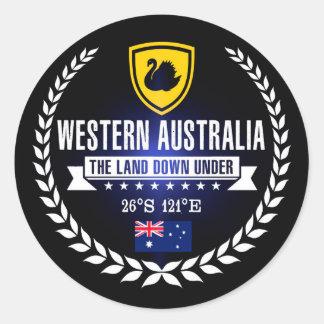 Sticker Rond Australie occidentale