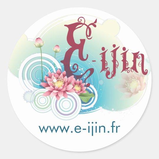 Sticker Rond Auto collant E-ijin