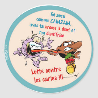 Sticker Rond Autocaollant ZAMZAM dentiste