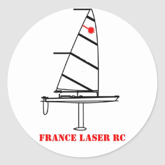 Sticker Rond Autocolant rond FRANCE LASER RC