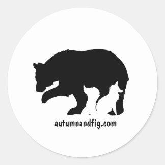 Sticker Rond Automne et figue