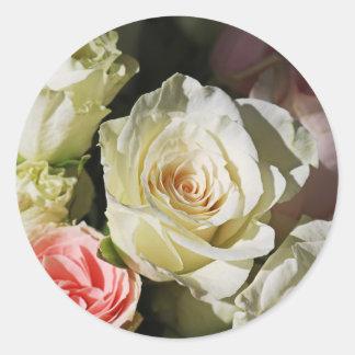 Sticker Rond Avec l'amour et la rémission