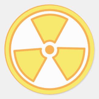Sticker Rond Avertissement radioactif