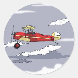 Sticker Rond avion