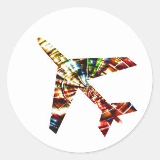 Sticker Rond Avion - conception de scintillement de cool de