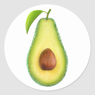 Sticker Rond Avocat demi