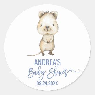 Sticker Rond Baby shower australien des animaux | Quokka