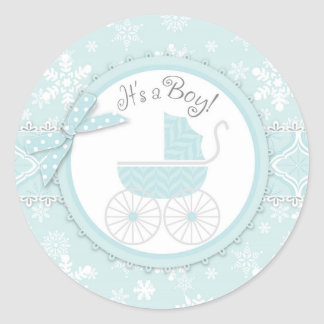 Sticker Rond Baby shower d'impression de voiture d'enfant et de