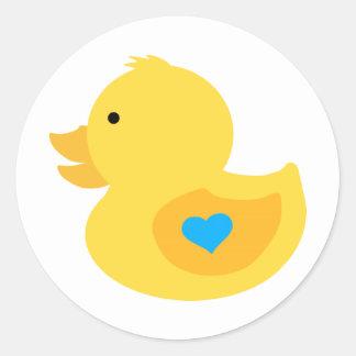 Sticker Rond Baby shower mignon en caoutchouc de garçon