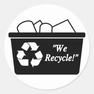 Sticker Rond Bac de recyclage
