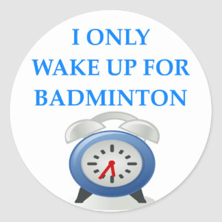Sticker Rond badminton