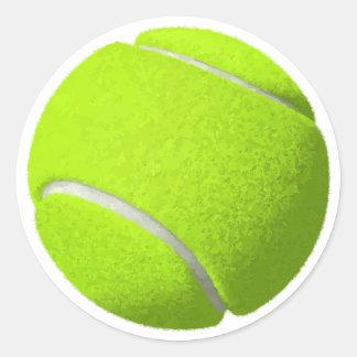 Sticker Rond Balle de tennis jaune