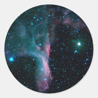 Sticker Rond Ballerine cosmique dans la NASA de l'espace