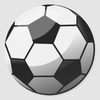 Sticker Rond Ballon de football