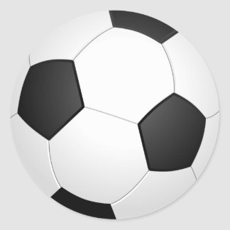 Sticker Rond ballon de football graphique