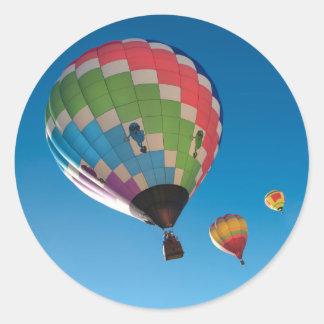 Sticker Rond Ballons à air chauds